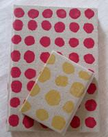 Polka Dot Notebooks red