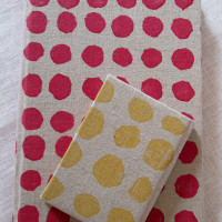 Polka Dot Notebooks red